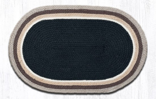 ITC-07 Black-Natural In The City Oval Rug 20x30