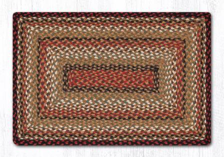 RC-319 Burgundy-Mustard-Ivory Braided Rectangle Rug