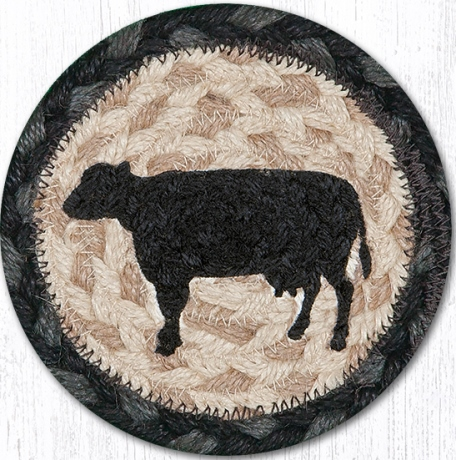 IC-459 Cow Silhouette Printed Coaster 5x5