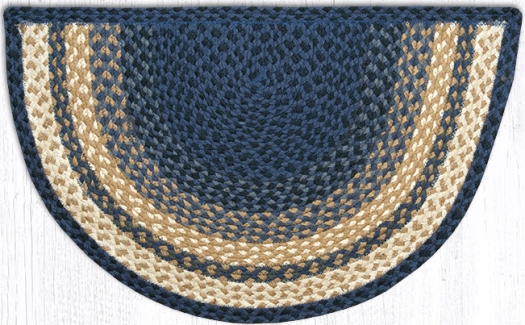 SC-079 Light Blue-Dark Blue-Mustard Braided Slice Rugs