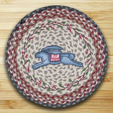 CH-434 Leaping Bunny Round Chair Pad 15.5x15.5