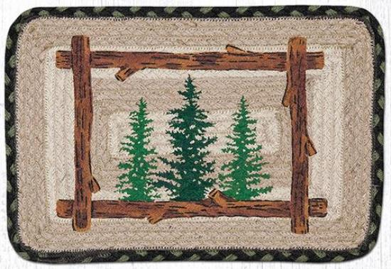 PP-116 Tall Timbers Rectangle Patch Swatch Table Accent 10x15