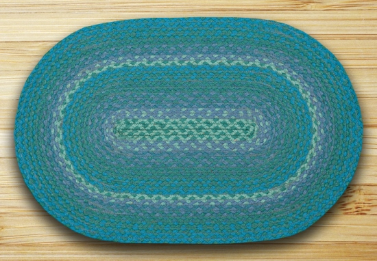 C-777 Teal In The City Oval Rug 20x30