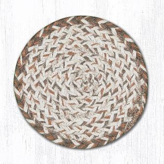ITC-14 Tan Large Round Coaster 7 In