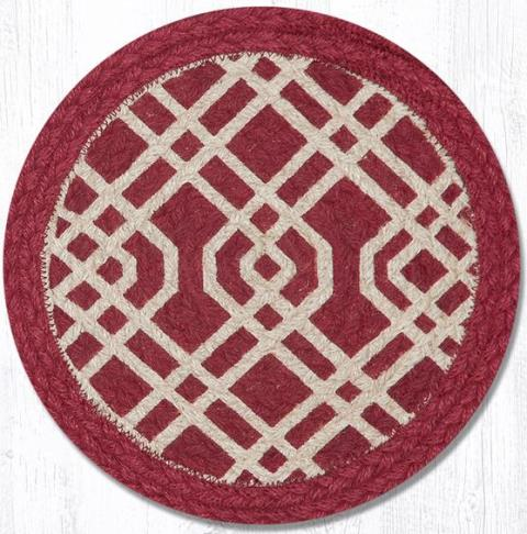GA-04 Burgundy-Natural Trivet Round 10 In