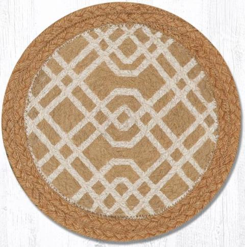 GA-05 Honey-Natural Trivet Round 10 In