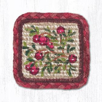 WW-390 Cranberries Wicker Weave Coaster Table Accent 5x5