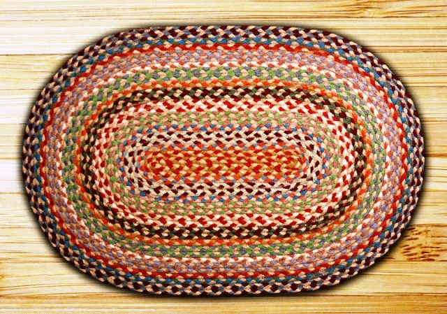 C-328 Multi 1 Braided Oval Rug