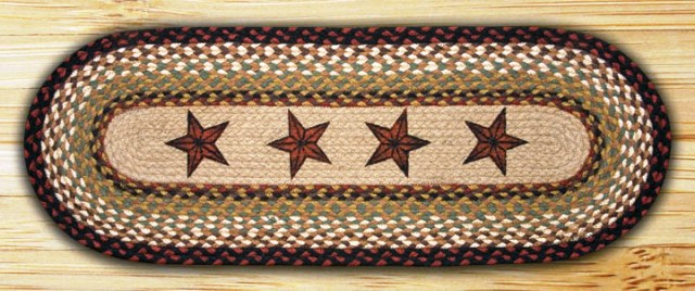 OP-019 Barn Stars Licensed Art Print Patch Braided Runner 13x48