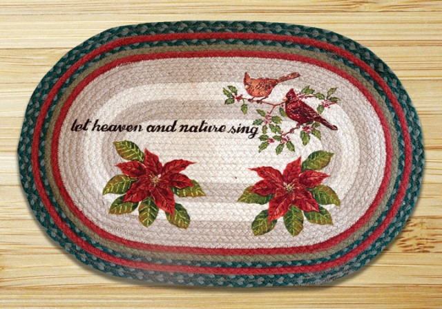 OP-246 Woodland Christmas Oval Patch 20x30