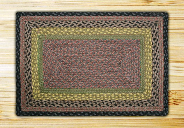 RC-99 Brown-Black-Charcoal Braided Rectangle Rug