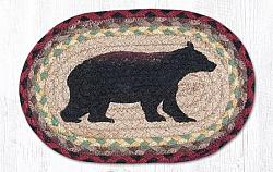 OMSP-395 Cabin Bear Oval Printed Swatch 7.5x11-OMSP-395 Cabin Bear Oval Printed Swatch 7.5x11