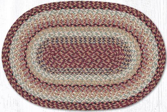 C 9-95 Burgundy Oval Braided Rug