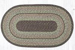 C 9-110 Moss Bark Oval Braided Rug 27x45-C 9-110 Moss Bark Oval Braided Rug 27x45