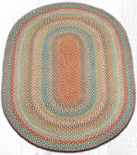 C-328 Multi 1 Oval Braided Rug 4x6-C-328 Multi 1 Oval Braided Rug 4x6