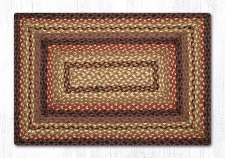 RC-371 Blk Cherry-Chocolate-Cream Braided Rectangle-Oblong Rug 20x30-RC-371 Blk Cherry-Chocolate-Cream Braided Rectangle-Oblong Rug 20x30