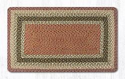 RC-024 Olive-Burgundy-Gray Braided Rectangle-Oblong Rug 27x45-RC-024 Olive-Burgundy-Gray Braided Rectangle-Oblong Rug 27x45