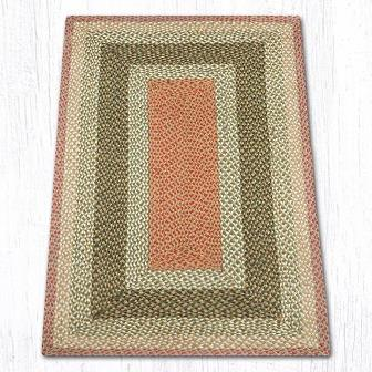 RC-24 Olive-Burgundy-Gray Braided Rectangle Rug 3x5-RC-24 Olive-Burgundy-Gray Braided Rectangle Rug 3x5