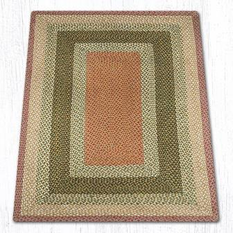 RC-024 Olive-Burgundy-Gray Braided Rectangle-Oblong Rug 4x6-RC-024 Olive-Burgundy-Gray Braided Rectangle-Oblong Rug 4x6