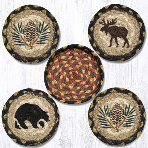 CNB-043 Wilderness Coasters in a Basket 5x5