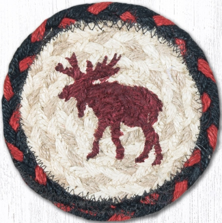 IC-019 Moose Printed Coaster 5 In-IC-019 Moose Printed Coaster 5 In