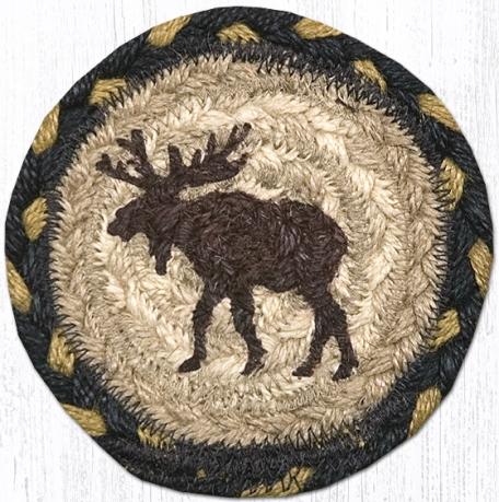 IC-043 Moose Printed Coaster 5 In-IC-043 Moose Printed Coaster 5 In