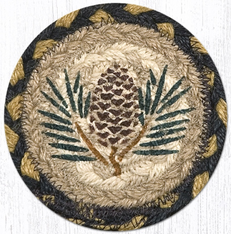 IC-043 Pinecone Printed Coaster 5 In-IC-043 Pinecone Printed Coaster 5 In
