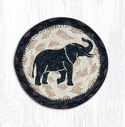 IC-313 Elephant Printed Coaster 5 In-IC-313 Elephant Printed Coaster 5 In