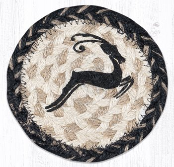 IC-9-93 Leaping Deer Printed Coaster 5 In-IC-9-93 Leaping Deer Printed Coaster 5 In