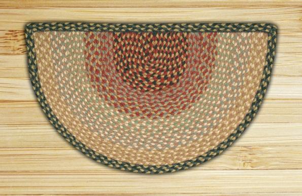 SC-057 Burgundy-Gray-Creme Braided Slice Rugs