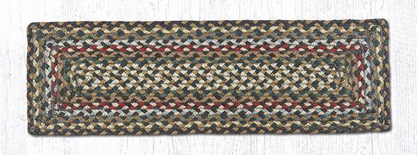 RC-051 Fir-Ivory Braided Rectangle Stair Tread 27x8.25-RC-051 Fir-Ivory Braided Rectangle Stair Tread 27x8.25