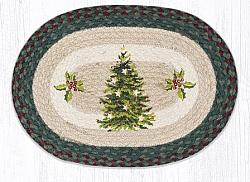 PM-508 Christmas Joy Tree Oval Placemat 13x19-PM-508 Christmas Joy Tree Oval Placemat 13x19