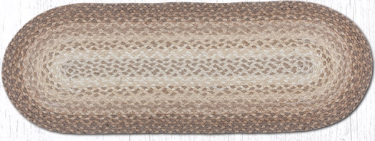 C-776 Natural Jute Oval Braided Table Runner 13X36-C-776 Natural Jute Oval Braided Table Runner 13X36