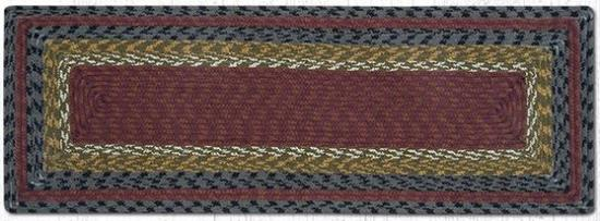 RC-238 Burgundy-Olive-Charcoal Cotton Rectangle Table Runner 13x36-RC-238 Burgundy-Olive-Charcoal Cotton Rectangle Table Runner 13x36