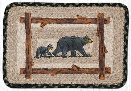PP-116 Mama and Baby Bear Rect Patch Swatch 10x15-PP-116 Mama and Baby Bear Rect Patch Swatch 10x15