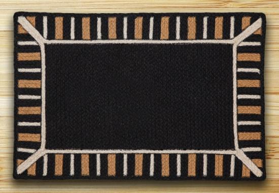 TSP-01 Black Soft Patch Rectangle Rug