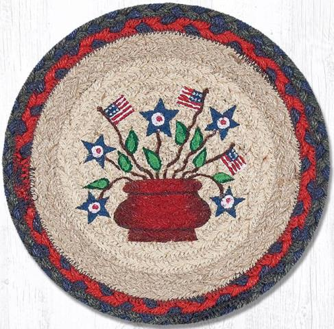 MSPR-015 Americana Bouquet Round Printed Swatch 10 In Dia-MSPR-015 Americana Bouquet Round Printed Swatch 10 In Dia