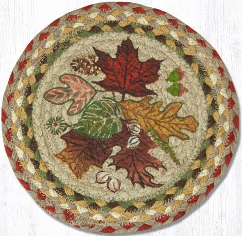 MSPR-024 Autumn Leaves Round Printed Swatch 10 In Dia-MSPR-024 Autumn Leaves Round Printed Swatch 10 In Dia
