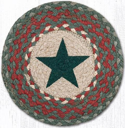 MSPR-025 Green Star Round Printed Swatch 10 In Dia-MSPR-025 Green Star Round Printed Swatch 10 In Dia