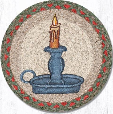 MSPR-025 Holiday Candle Printed Round Swatch 10x10