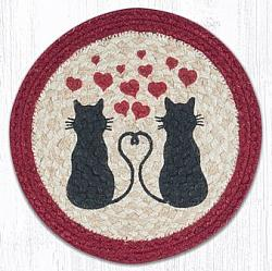 MSPR-576 Love Cats Round Printed Swatch 10 In Dia-MSPR-576 Love Cats Round Printed Swatch 10 In Dia