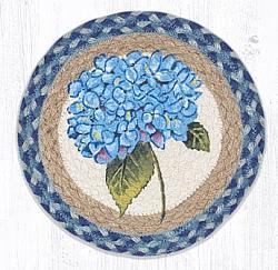 MSPR-592 Blue Hydrangea Round Printed Swatch 10 In Dia-MSPR-592 Blue Hydrangea Round Printed Swatch 10 In Dia
