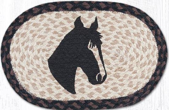MSP-313 Horse Portrait Printed Oval Swatch 10x15