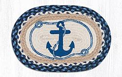 MSP-443 Navy Anchor Oval Printed Swatch 10x15-MSP-443 Navy Anchor Oval Printed Swatch 10x15