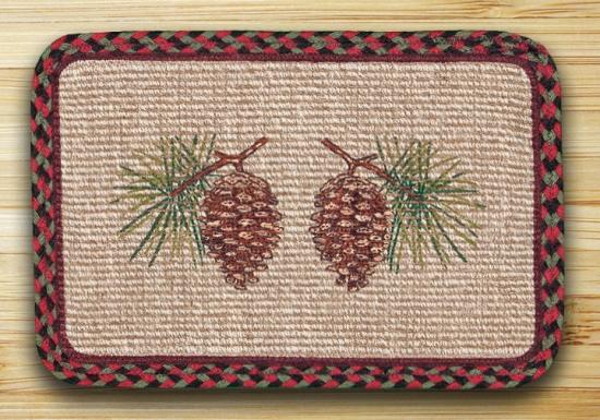 WW-081 Pinecone Rect Wicker Weave Placemat 13x19-WW-081 Pinecone Rect Wicker Weave Placemat 13x19