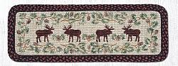 WW-019 Moose-Pinecone  Wicker Weave Rectangle Runner 13x36-WW-019 Moose-Pinecone  Wicker Weave Rectangle Runner 13x36