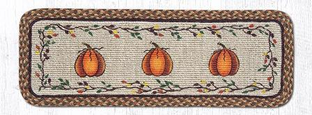WW-222 Harvest Pumpkin Wicker Weave Rectangle Runner 13x36-WW-222 Harvest Pumpkin Wicker Weave Rectangle Runner 13x36