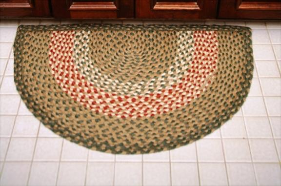 Half Circle Slice Braided Rugs