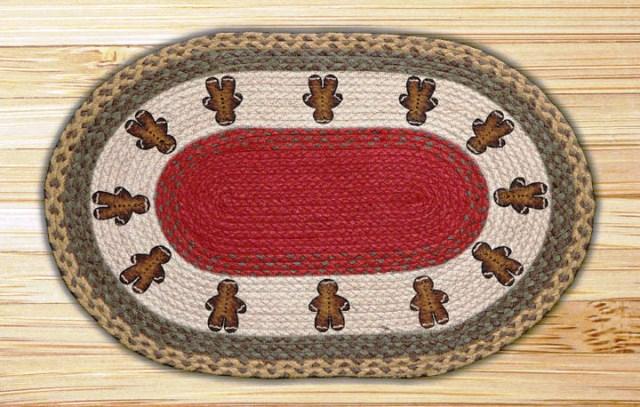 OP-111 Gingerbread Men Oval Patch 20x30-OP-111 Gingerbread Men Oval Patch 20x30