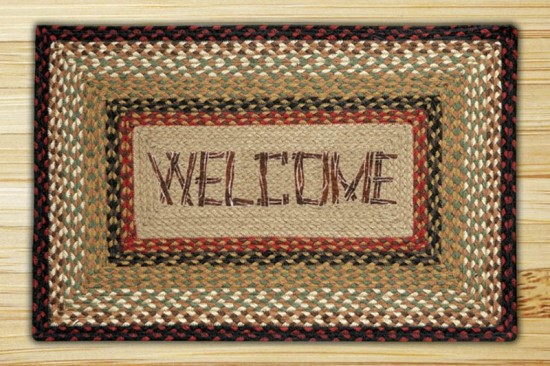 PP-19 Welcome Rectangle Print Patch Rug 20x30-PP-19 Welcome Rectangle Print Patch Rug 20x30